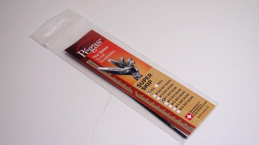 Pegas #1 Super Skip Blades 17.2 tpi 12/pack