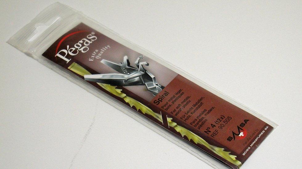 Pegas #4 Spiral Blades 39.1 tpi 12 / pack