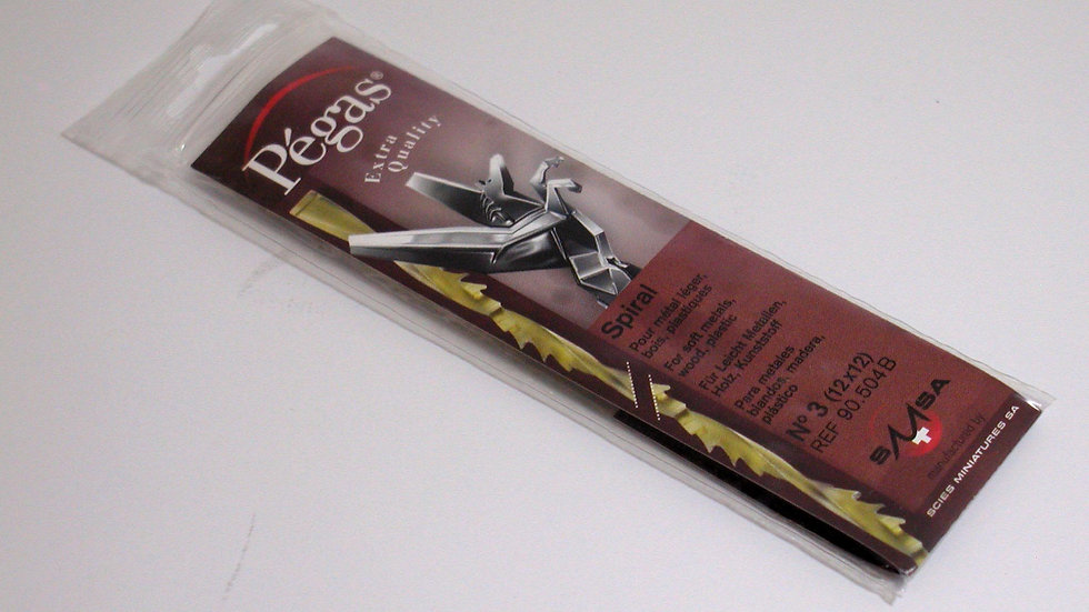 Pegas #3 Spiral Blades 42.3 tpi 144 / pack
