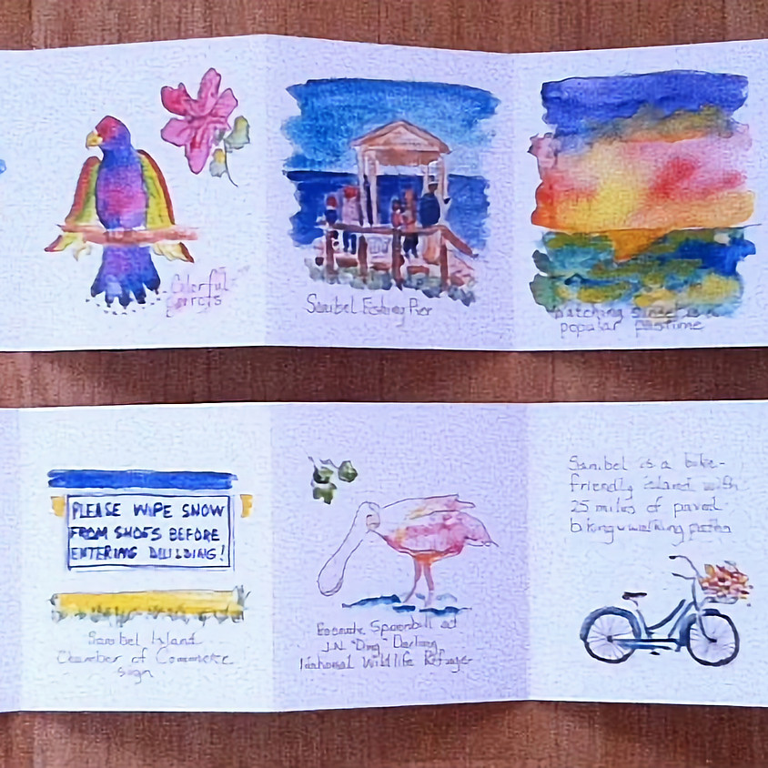 Watercolor Accordion Book with Mary Lou Peters