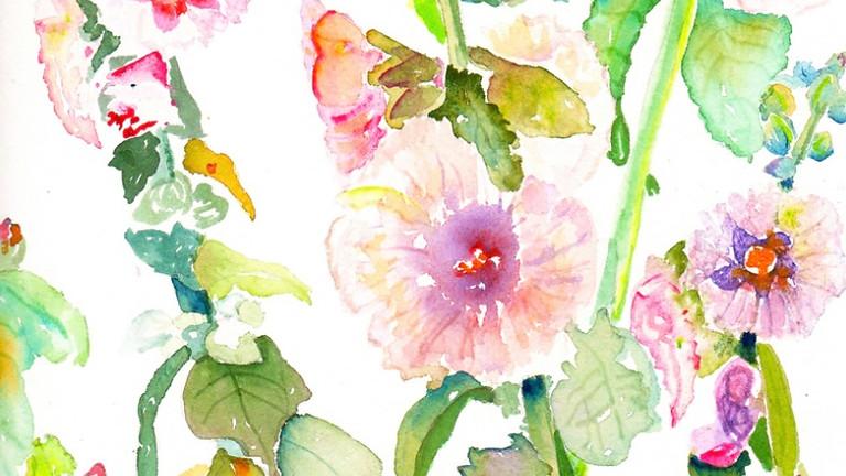Watercolor Hollyhocks with Megan Swoyer