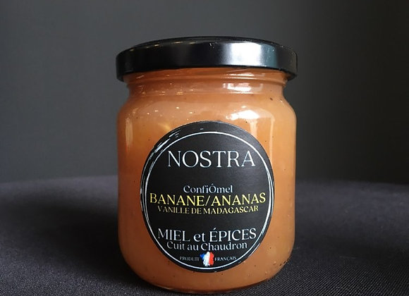 BANANE/ANANAS au miel et Vanille de Madagascar