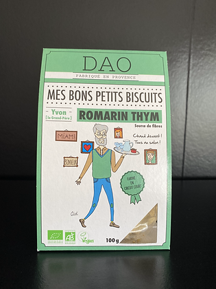 DAO BISCUITS BIO ROMARIN ET THYM 100G