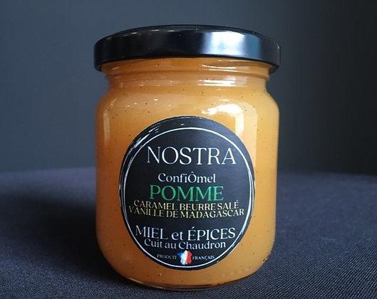POMME/CARAMEL BEURRE SALÉ au miel et Vanille de Madagascar 240g