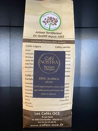 MEXIQUE CHIAPAS en grain bio (100% Arabica) 250g