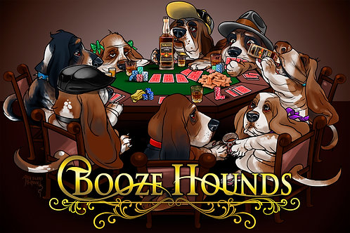 "Silkscreen T-Shirt ""N Scott Booze Hounds"""