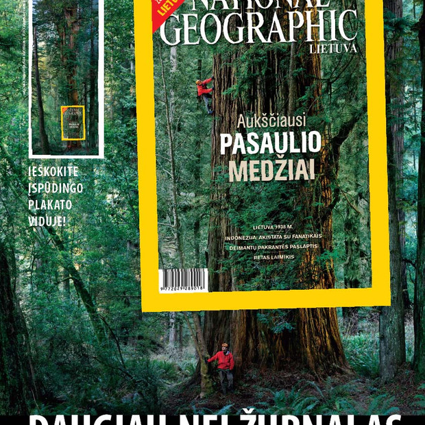Between 2009-2014 I was a Design Editor of the National Geographic Lithuania magazine
