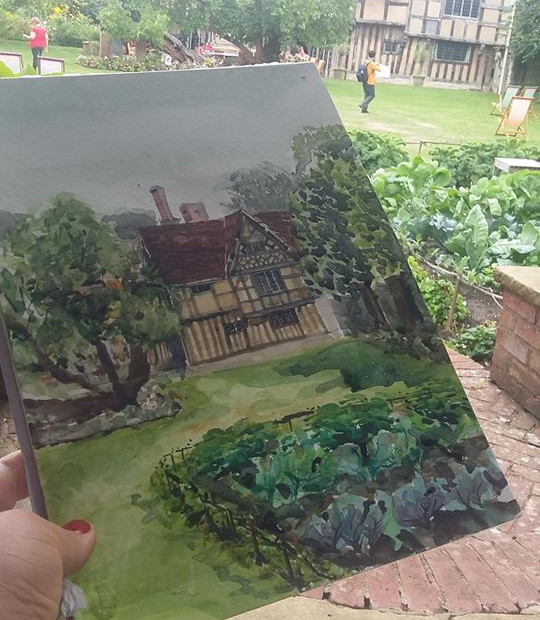 Painting with watercolour