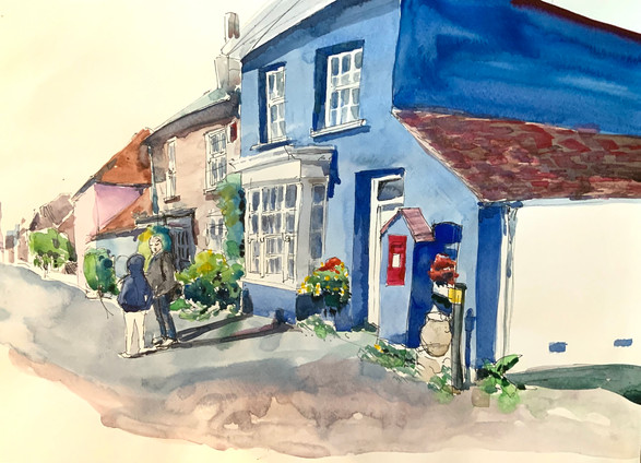 blue house in portchester