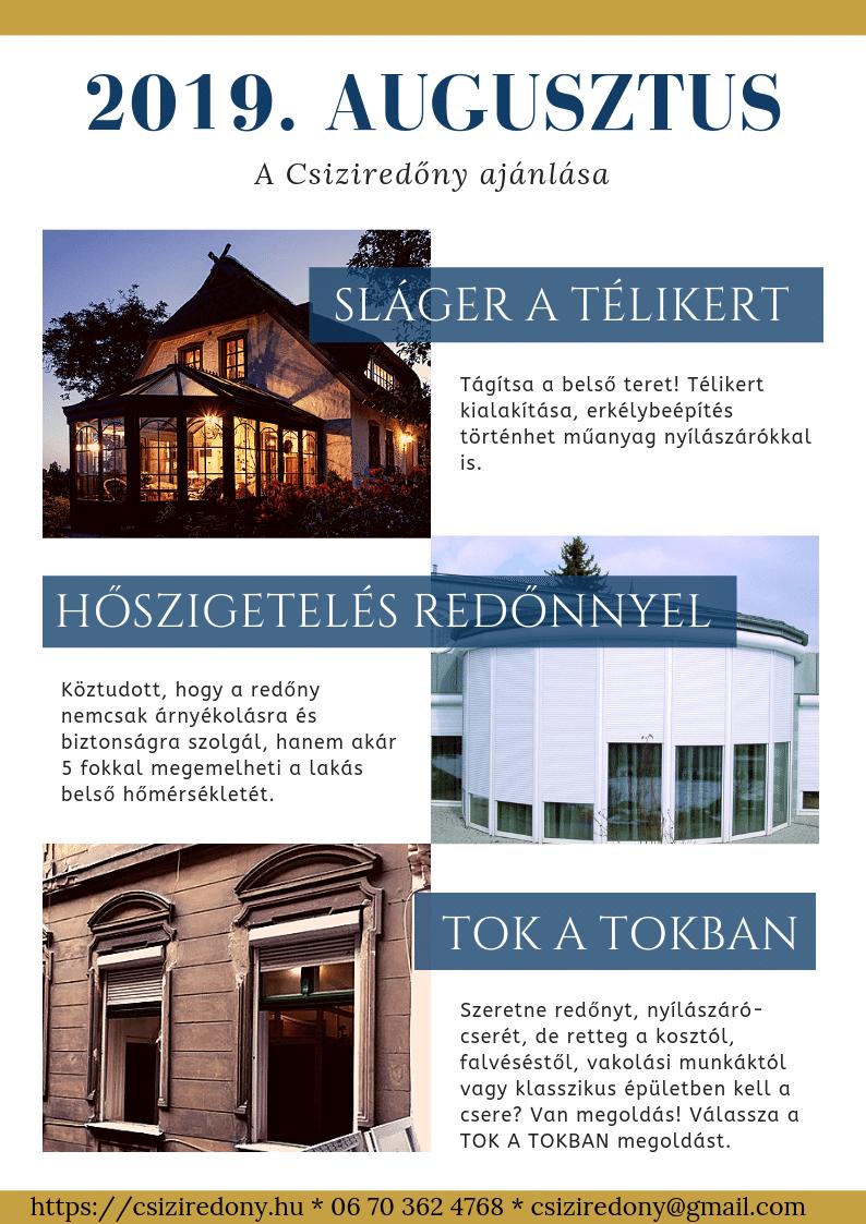 Csiziredőny 2019. augusztusi hírei - 1. oldal