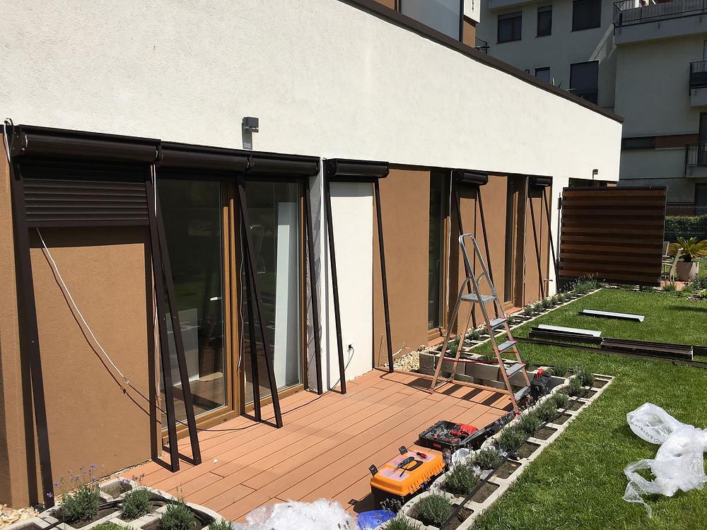 Ref. 37: motoros alumínium redőny beépítése a Cordia lakóparkban - Csiziredőny