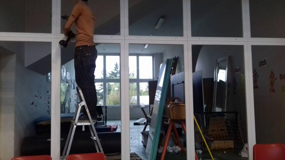 Nyílászárócsere a Barsi Sportcsarnokban - Csiziredőny