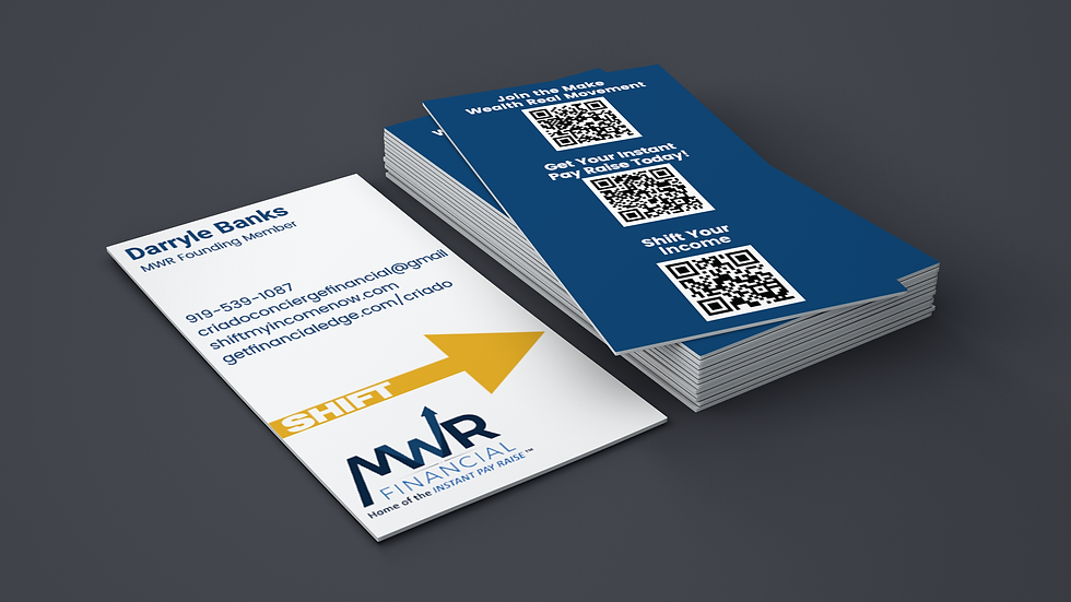 MWR Portrait Business Card