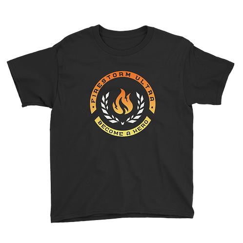Firestorm Ultra Logo Crest Youth Short Sleeve T-Shirt