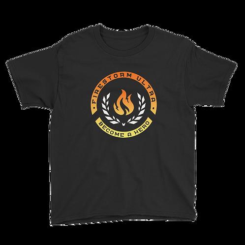 Firestorm Ultra Logo Crest Youth Short Sleeve T-Shirt
