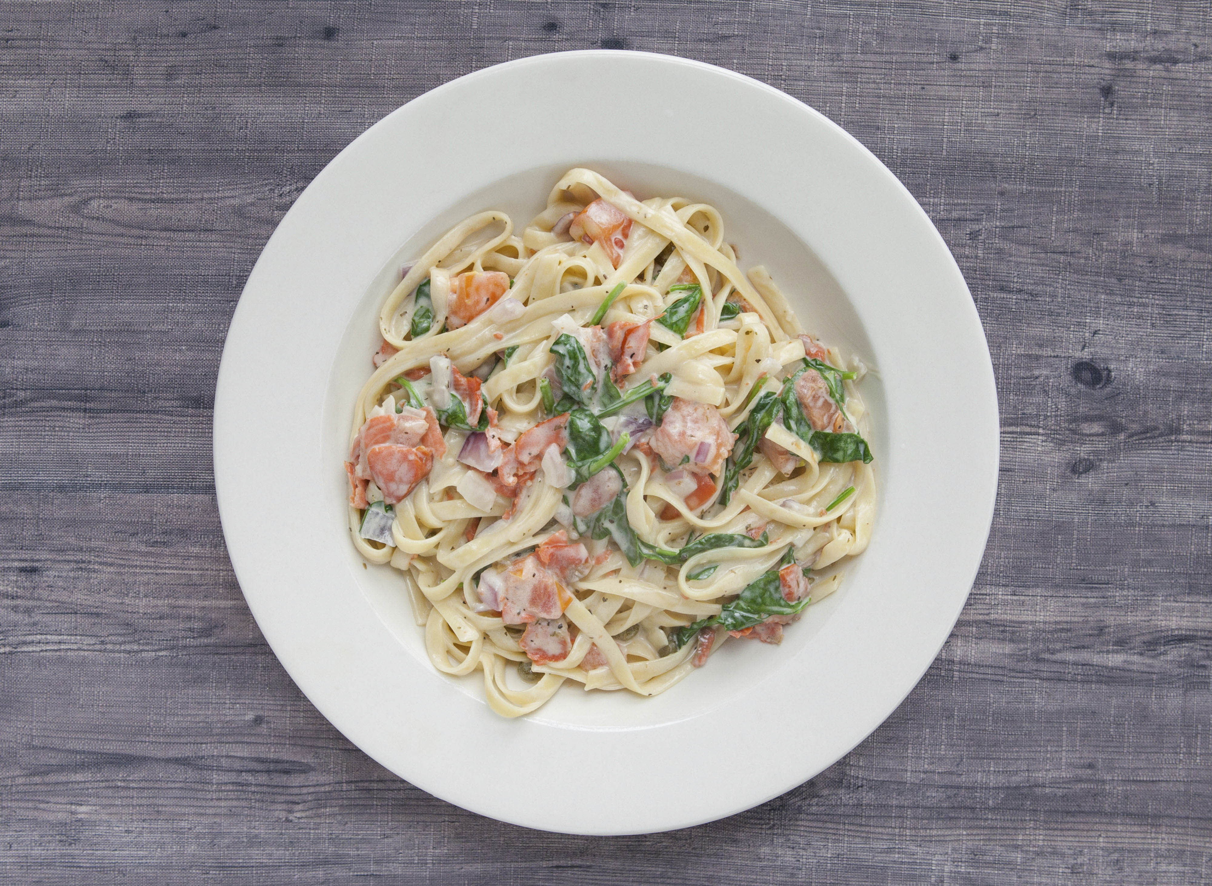 BC Smoked salmon fettuccine