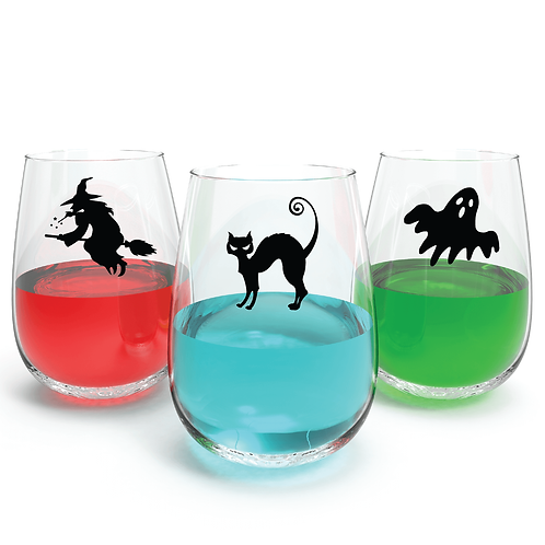 Halloween Wine Glass Decoration Stickers Party Decal Spooky 9x Different style