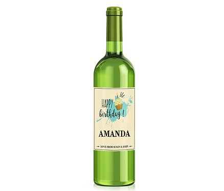Personalised Birthday Wine Label with any name and message