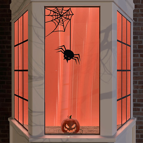 Halloween Window Stickers Decoration Wall Spooky Decal Party Black Spider