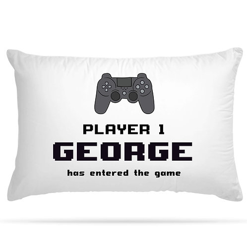Personalised Pillowcase Console Themed 8 Different Style