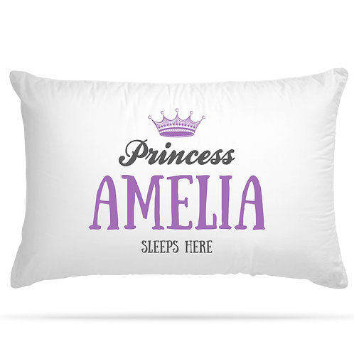 Personalised Pillowcase Princess Prince 2 Colour Option