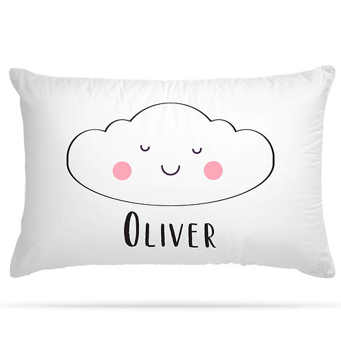 Personalised Pillowcase Cute Cloud with Custom Name