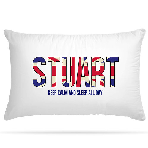 Personalised Pillowcase English Flag Themed Customise with any name