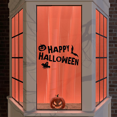 Halloween Window Stickers Decoration Window Wall Spooky Decal Party Black Ghost