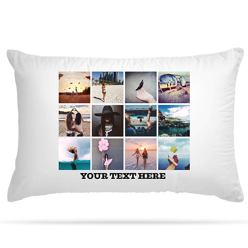 Personalised Pillowcase Up to 12 Image Print Collage