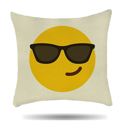 Personalised Linen Cushion Cover Emoji 14 Design House Warmer Gift
