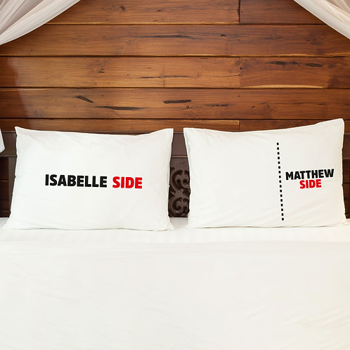 Personalised Pillowcase Pair for Couples Big Spoon Little Spoon