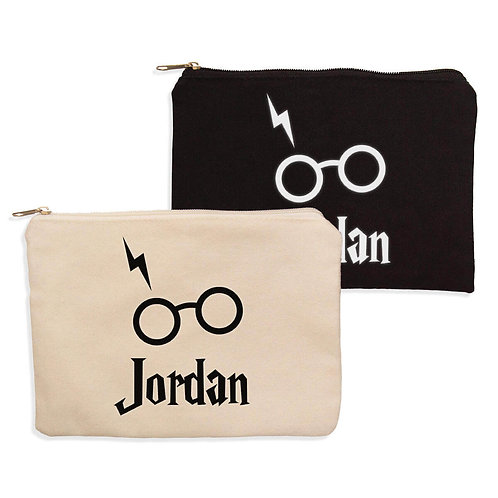 Personalised Harry Potter Inspired Pencil case or Make up Bag