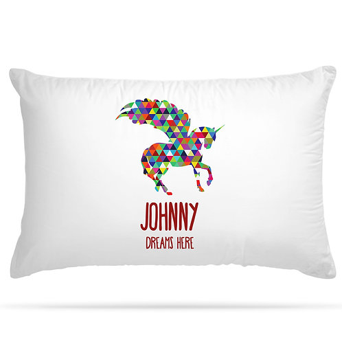 Personalised Pillowcase Kids Unicorn for Girls and Boys with 5 Option