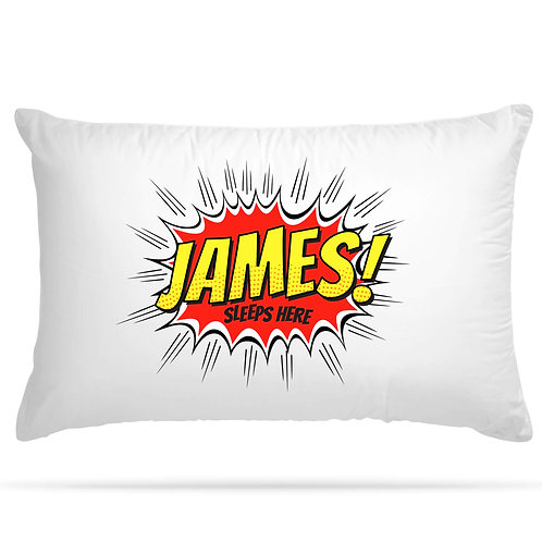 Personalised Pillowcase Superhero Boys and Girls Name Gift 2 Colour