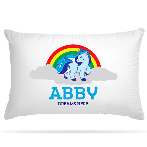 Personalised Pillowcase Kids Unicorn for Kids with 5 Design Option