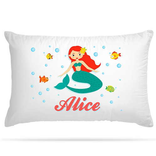 Personalised Pillowcase Mermaid Children Gift 8 Design Option