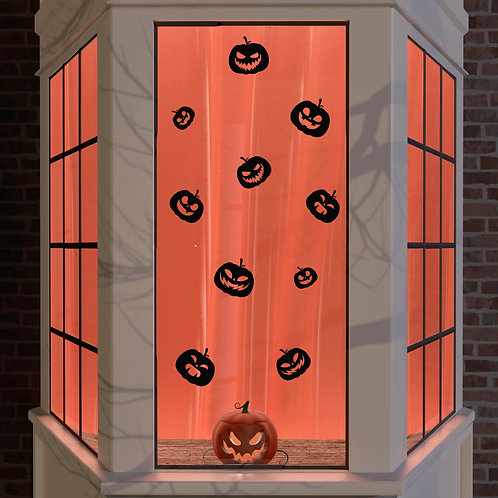 Halloween Window Stickers Decoration Wall Spooky Decal Party Black Pumpkin