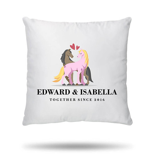 Personalised Cushion Cover Horse Love Housewarming Gift