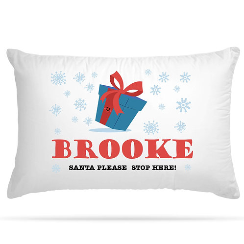 Personalised Pillowcase Kids Christmas Theme 9 Design