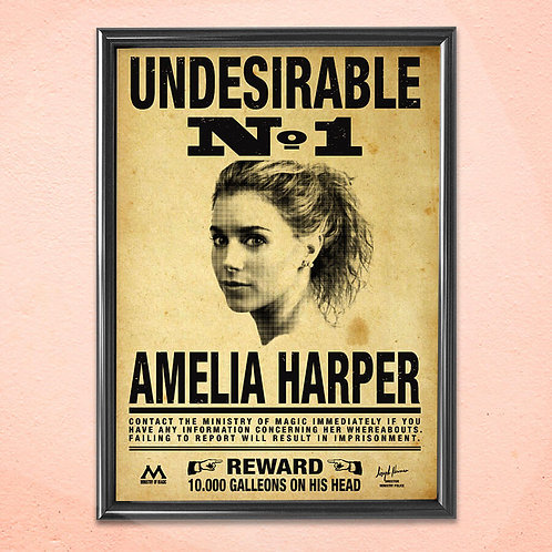 Personalised Print Art Home Wall Decoration Harry Potter Undesirable Framed Art