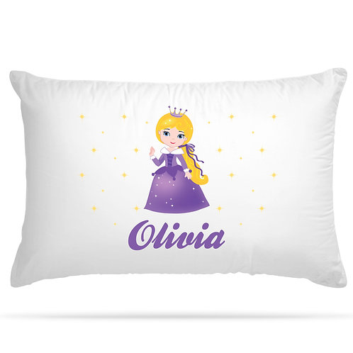 Personalised Pillowcase Princess Children Gift 12 Design Option