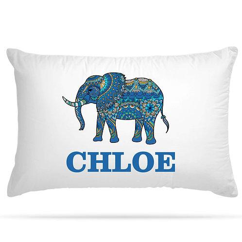 Personalised Pillowcase Elephant 5 Colour Option