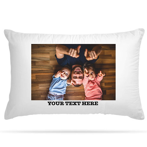 Personalised Photo Pillowcase with Text Option