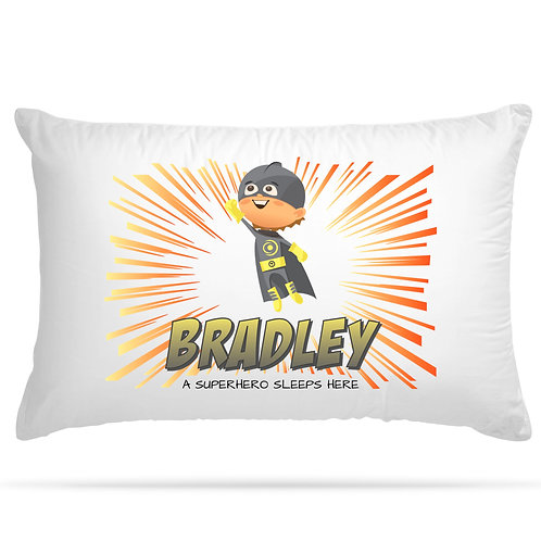 Personalised Pillowcase Superhero Children Gift 9 Design Option