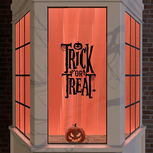 Halloween Window Stickers Decoration Wall Spooky Decal Trick or Treat Big