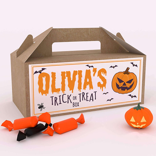 Halloween Trick or Treat Fun Party Favour Box Candy Bag for Kids