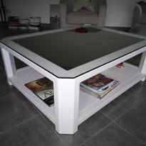 TABLE ALU BLANC GRAZAMELIIA