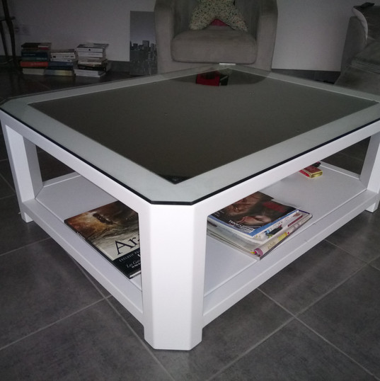 TABLE ALU BLANC GRAZAMELIIA