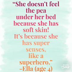 Ella on the princess and the pea.PNG