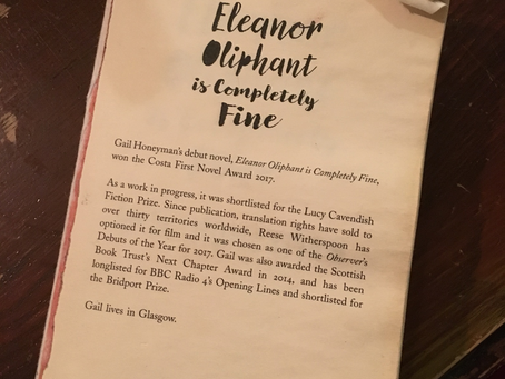 The Knackered Parent's Book club reviews Eleanor Oliphant is Completely Fine by Gail Honeyman